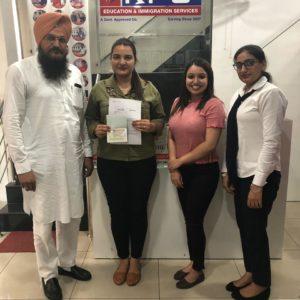 Miss. Dhanveer Kaur Canada Study Visa