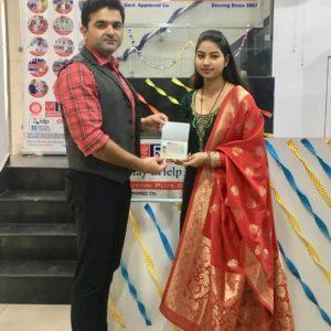Mrs. kajal Paruthi Europe Study Visa